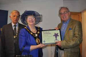 Image of presentation to celebrate 50 years at Ripon